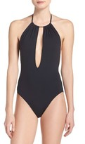 Vince Camuto Women's Halter One-Piece Swimsuit