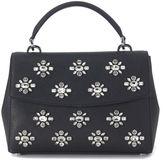 Michael Kors Ava Handbag In Black Saffiano Leather With Rhinestones