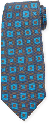 Kiton Connected Circles Silk Tie