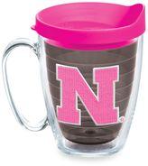 Tervis University of Nebraska 15-Ounce Mug with Lid in Neon Pink