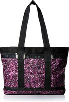 Le Sport Sac Medium Travel Tote Bag, Violet Cheetah, One