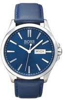 HUGO BOSS BOSS The James Leather Strap Watch, 42mm