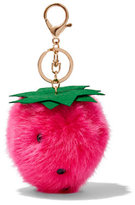 New York & Co. Strawberry Pom-Pom Keychain