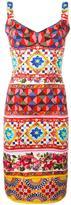 Dolce & Gabbana Mambo print fitted dress - women - Silk/Polyamide/Spandex/Elastane - 40