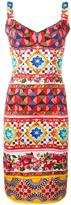 Dolce & Gabbana Mambo print fitted dress - women - Silk/Polyamide/Spandex/Elastane - 44