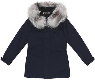 Loro Piana Kids Fur-trimmed cashmere coat