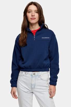 Topshop Los Angeles Funnel Neck Sweatshirt