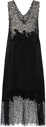 Prada Floral-Lace Panelled Midi Dress