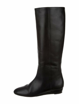 Loeffler Randall Matilde Leather Riding Boots Black