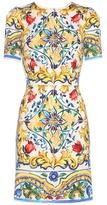 Dolce & Gabbana Printed Silk-blend Dress