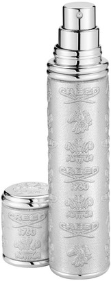 Creed Silver with Silver Trim Leather Pocket Atomizer