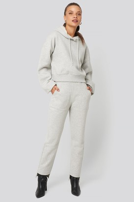NA-KD Donnaromina X Elastic Waist Sweatpants Grey