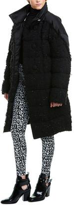 Moncler Medium Wool-Blend Down Jacket