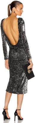 Cinq à Sept Julieann Dress in Silver & Black | FWRD