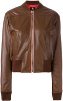 Paul Smith Sorbet leather bomber jacket - women - Leather/Acetate/Viscose - 46