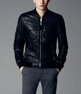AllSaints Blenham Leather Bomber Jacket
