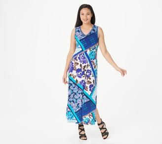Susan Graver Regular Printed Liquid Knit Maxi Dress