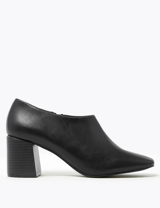 Marks and Spencer Leather Square Toe Shoe Boots