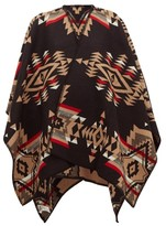 Pendleton Tuscon Wool-blend Cape - Womens - Black Multi