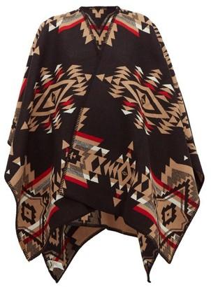 Pendleton Tuscon Wool-blend Cape - Womens - Black Multi