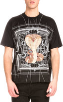 Givenchy Map & Cobra Graphic-Print Short-Sleeve T-Shirt, Black