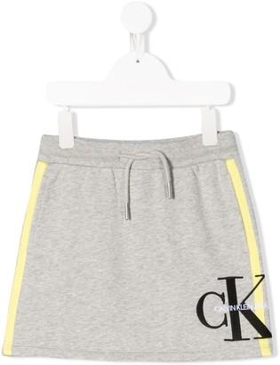 Calvin Klein Kids Logo Printed Skirt