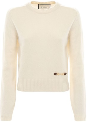 Gucci Cashmere Knit Sweater W/ Horsebit