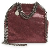 Stella McCartney 'Tiny Falabella' Metallic Faux Leather Crossbody Bag - Red