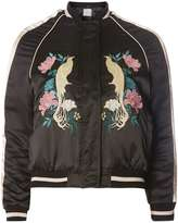 Dorothy Perkins Petite Embroidered Bird Bomber Jacket