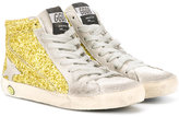 Golden Goose Deluxe Brand Kids - SuperStar glitter sneakers - kids - Leather/Suede/PVC/rubber - 24