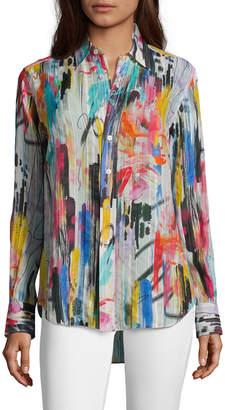 Robert Graham Carrie Painterly Brushstroke Printed Shirt