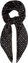 Givenchy Micro geometric-print silk scarf