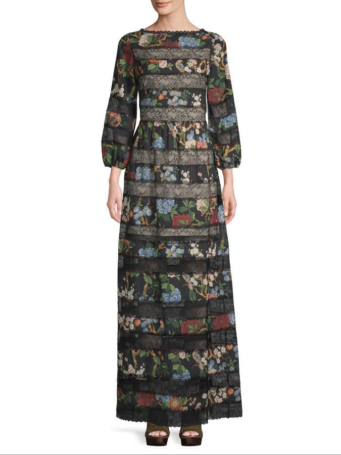 Alice + Olivia Women's Peasant Maxi Dress