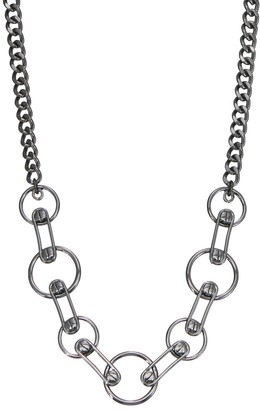 Simply Vera Vera Wang Screw Ring Link Statement Necklace