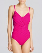 Gottex Lattice V Neck One Piece Swimsuit