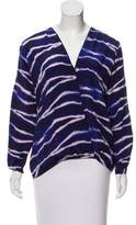 Karina Grimaldi Silk Long Sleeve Top w/ Tags