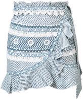 Dodo Bar Or - ruffled wrap mini skirt - women - Cotton - S
