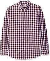 Dockers Long Sleeve No Wrinkle Signature Gingham Button Down Collar Spade Pocket Shirt