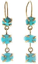 Melissa Joy Manning Three Drop Freeform Turquoise Earrings
