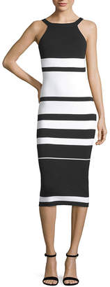 Say What Juniors Sleeveless Striped Bodycon Dress