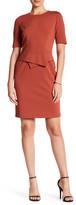 Lafayette 148 New York Elbow Length Sleeve Shift Dress