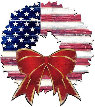 Designocracy American Flag Wreath Ornament