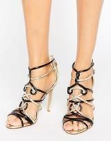 Forever Unique Trina Contrast Heeled Sandal