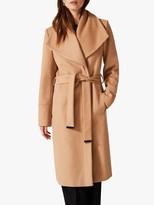 Phase Eight Nicci Belted Wool Blend Coat, Camel