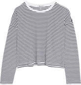 Alexander Wang Striped Cotton-jersey Top - White