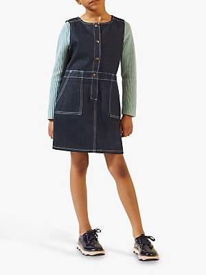 Jigsaw Girls' Dark Denim Dress, Blue