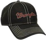 Wrangler Men's Adjustable Velcro Back Logo Baseball Cap