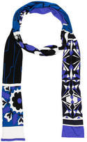 Emilio Pucci Silk Abstract Printed Scarf