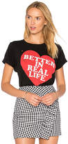 Wildfox Couture Better In Real Life Tee in Black. - size L (also in M,S,XS)