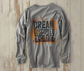 Madda Fella Long Sleeve Excursions - Explore Print Shark Gray